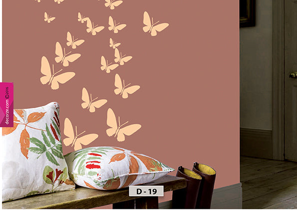 Butterfly stencil designs for living room and kids room design ideas, Butterfly Stencil, D-19