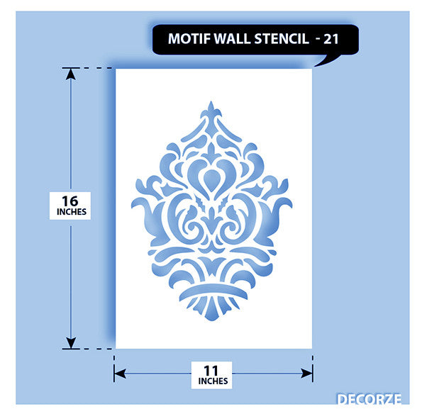 Indian Paisley/Motif Stencil, MWS-21