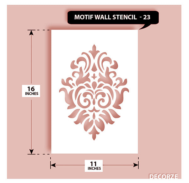 Indian Paisley/Motif Stencil, MWS-23