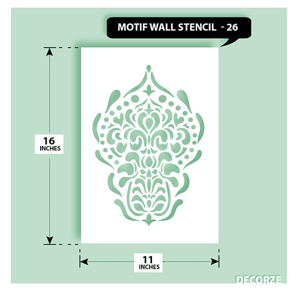 Indian Paisley/Motif Stencil, MWS-26