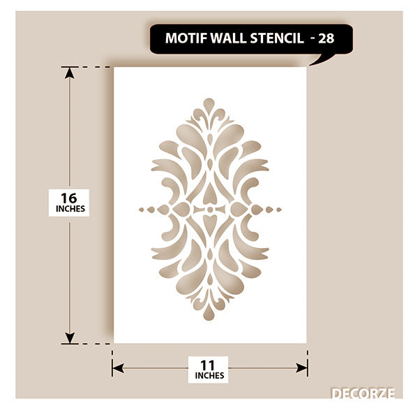 Indian Paisley/Motif Stencil, MWS-28