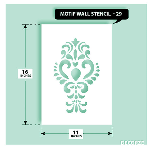 Indian Paisley/Motif Stencil, MWS-29