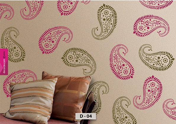 Mango motif Design for wall painting, indian traditional mango motif wall designs, D-04