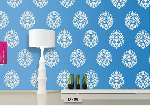 Indian motif design for wall painting, Classic Motif Stencil, easy painting ideas, D-08
