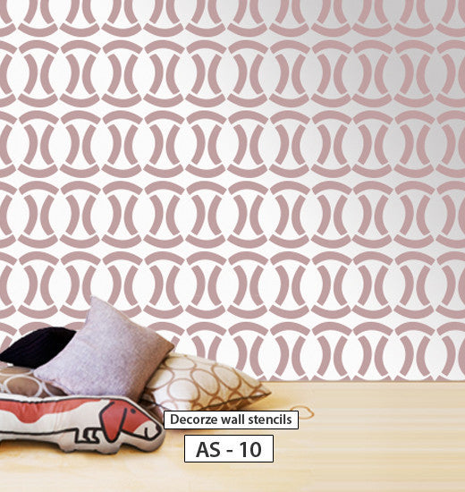 Reusable wall stencil pattern, Allover wall stencil, AS-10