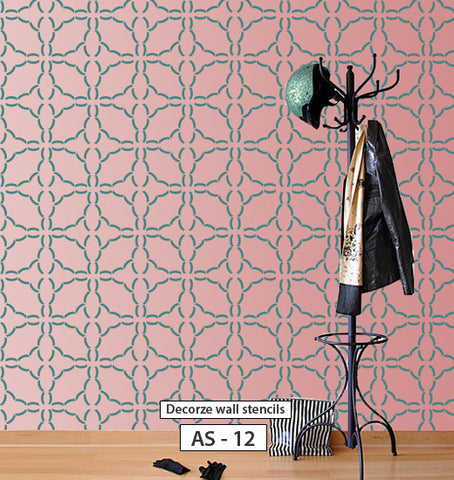 stencil for wall decor allover stencil pattern, AS-12