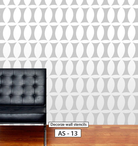 Wall stencil design for wall, DIY home decor AS-13