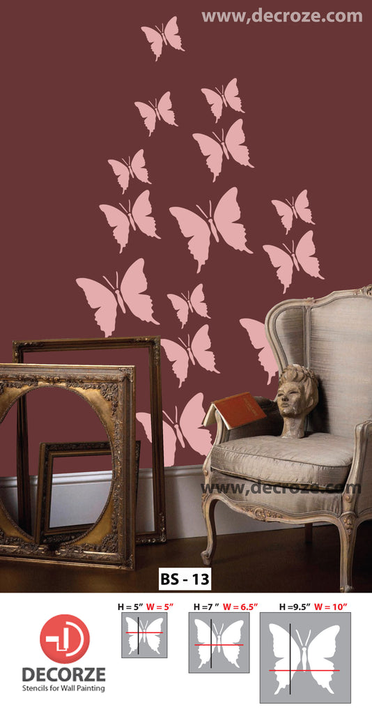 Popular butterfly  designs for wall art, BS-13