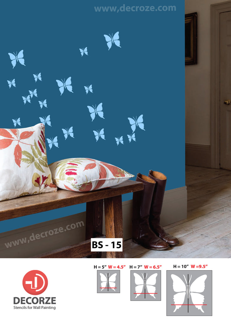 Butterfly stencils for kids room decoration - Decorze