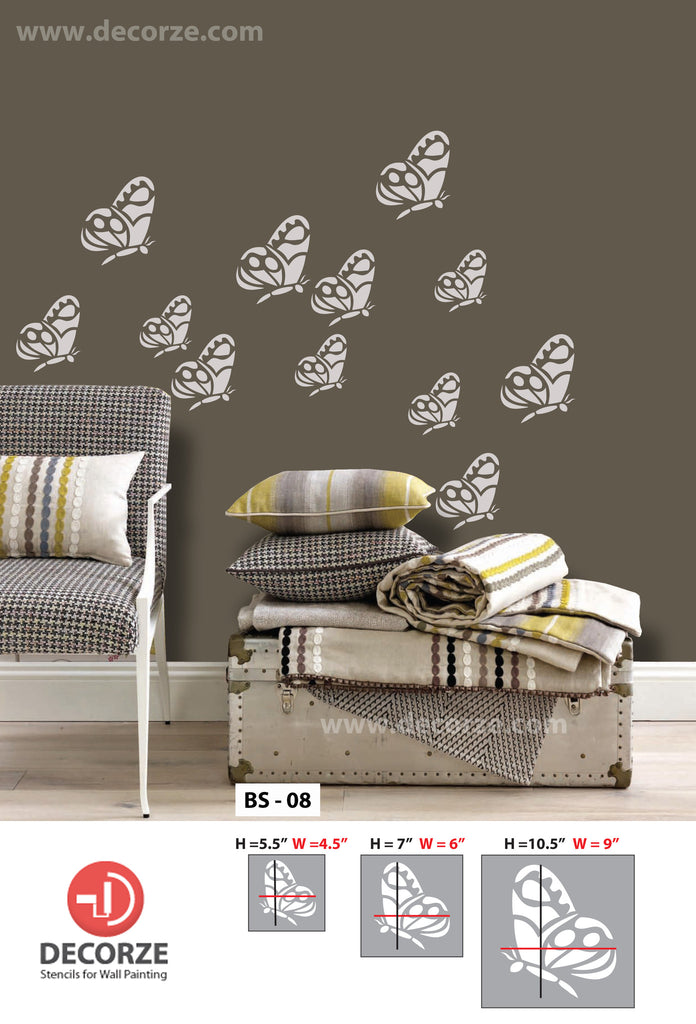 Fashionable wall stencils for small butterfly,BS-08