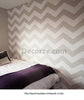Chevron wall stencils