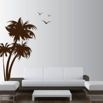 coconut tree stencil customize design