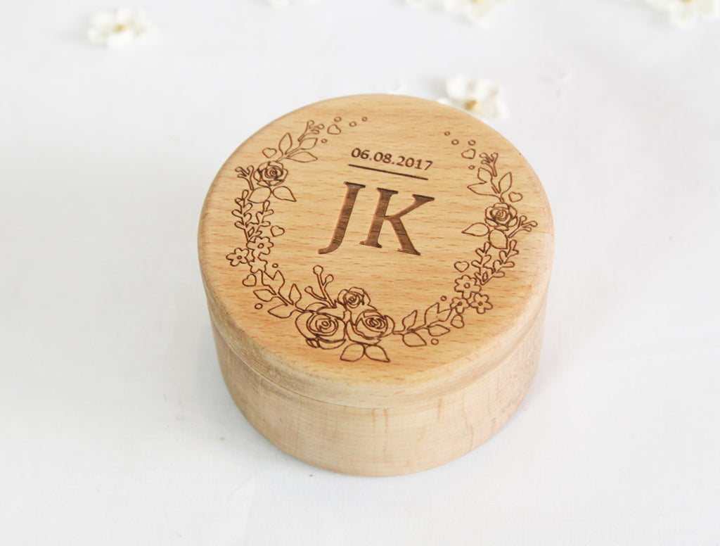 Customize Ring Gift Box Engraved Art