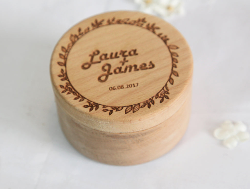 Customize Ring Box Engraved Art