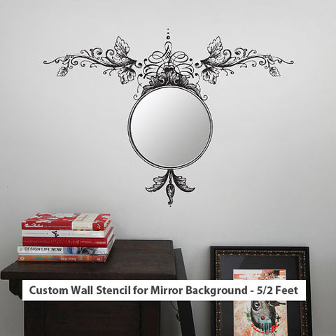 Custom Wall Stencil for Mirror Background - 5/2 Feet