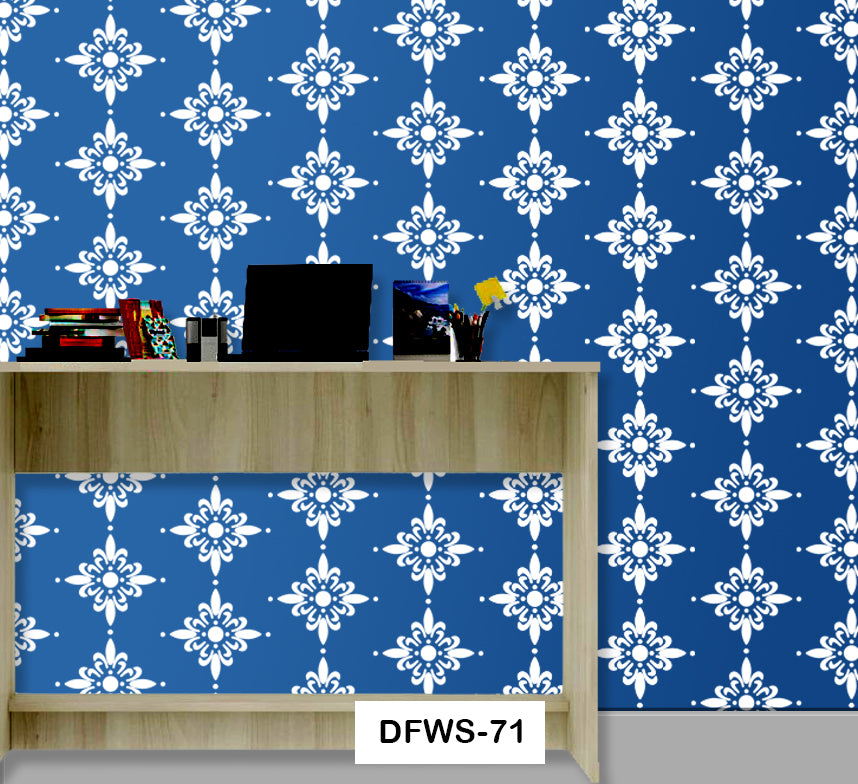 Wall Painting ideas with stencils - DFWS-71