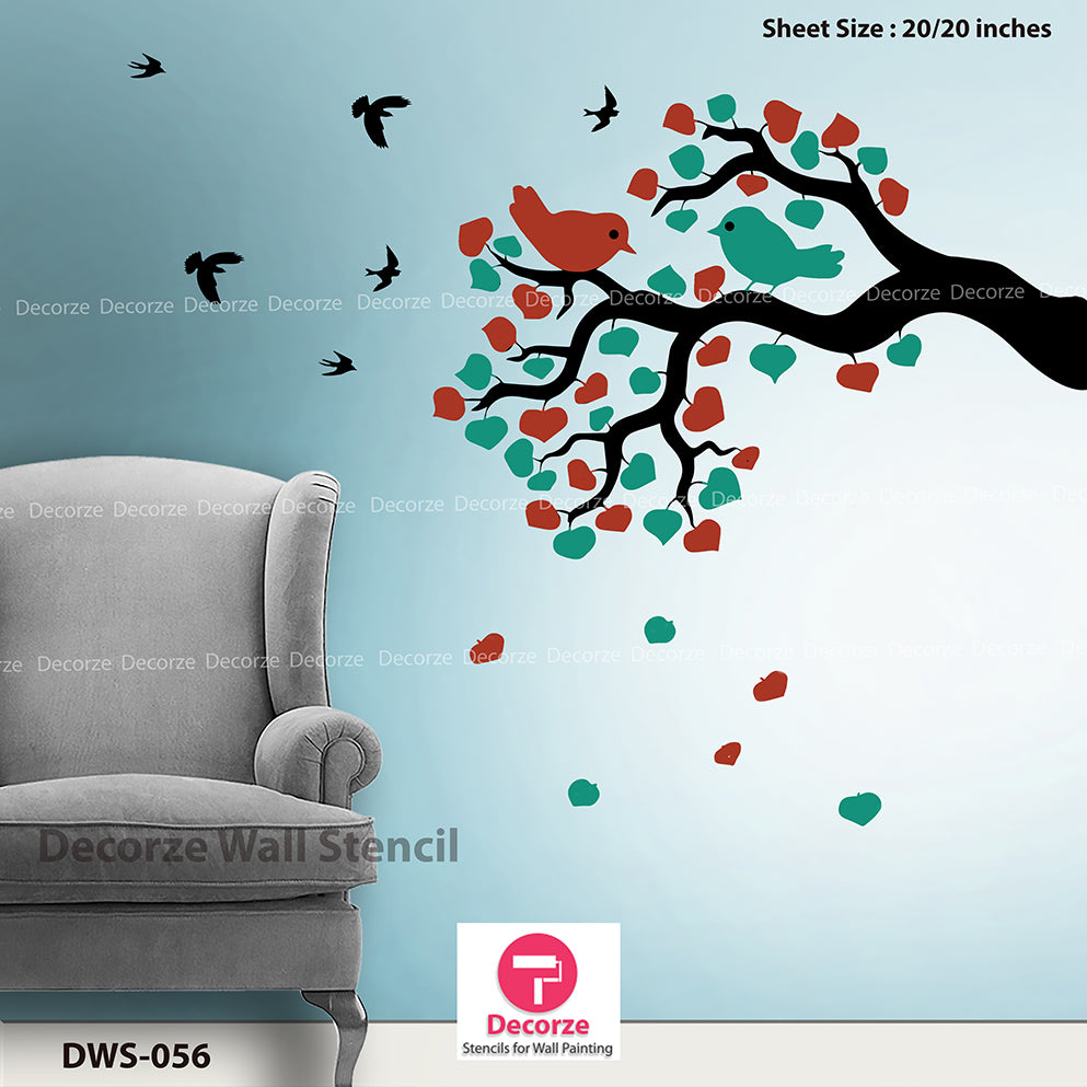 Floral Tree Branch art painting for bedroom wall arts | Wall Painting Designs | Painting Ideas DWS-56