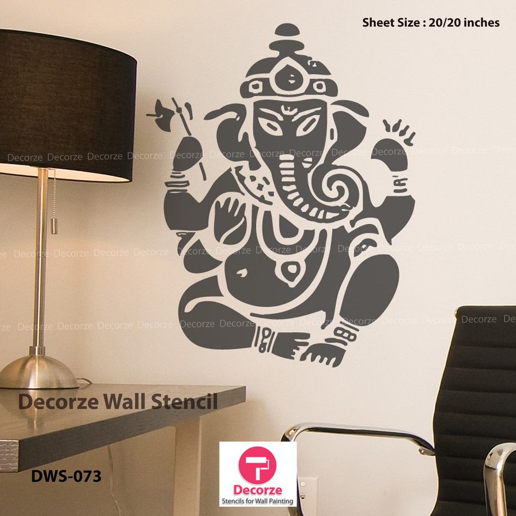 Ganesha Wall Painting Designs | Ganesha Stencil | Ganesha Designs | Painting Ideas DWS-73