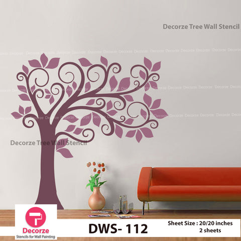 Tree Wall Stenil | Wall Painting Designs| Painting Ideas DWS-112