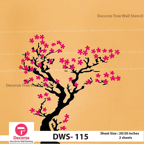 Cherry Blossom Tree Stencil | Wall Painting Designs| Painting Ideas DWS-115
