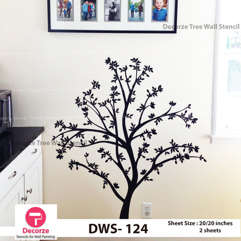 Tree wall Stencil | Wall Painting Designs| Painting Ideas DWS-124