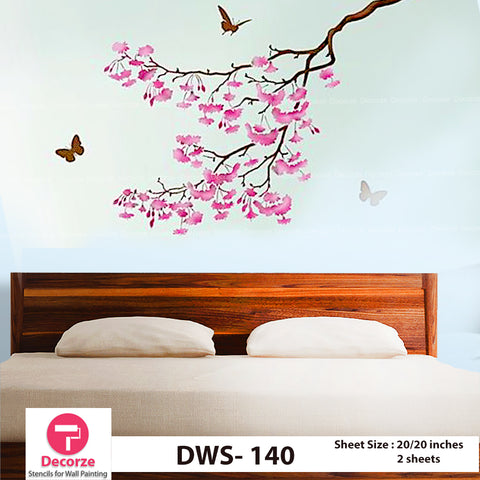 Blossom Tree branch  | Wall Painting Designs| Painting Ideas DWS-140