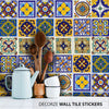 Mexican Tiles Stickers, Kitchen Wall Tiles Stickers, Wall Tiles Decoration