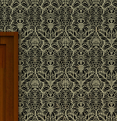 Damask wall stencils pictures, DS-04