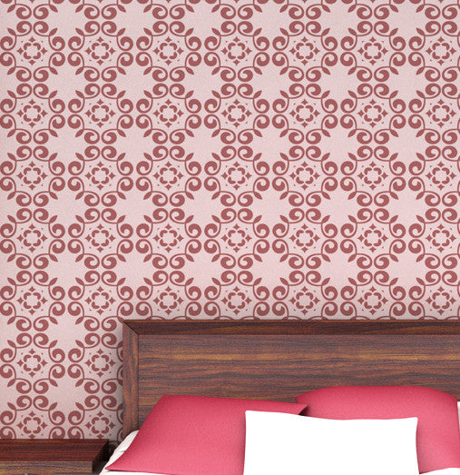 Damask stencils for wall art decals, DS-08 - Decorze