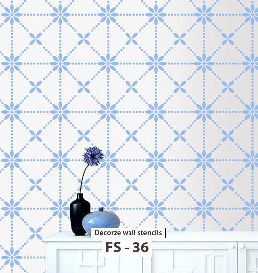 Easy way to paint wall like flower wall stencil reusable stencil, FS-36