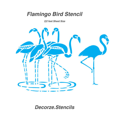 Flamingo Bird Stencil