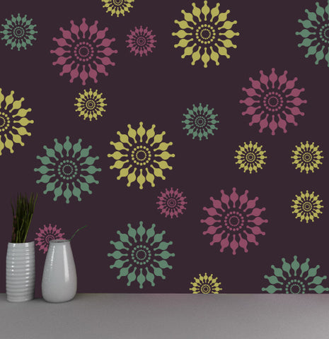 Flower wall stencils online shop, FS-11