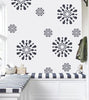 Flower wall stencil for girls room, FS-12 - Decorze