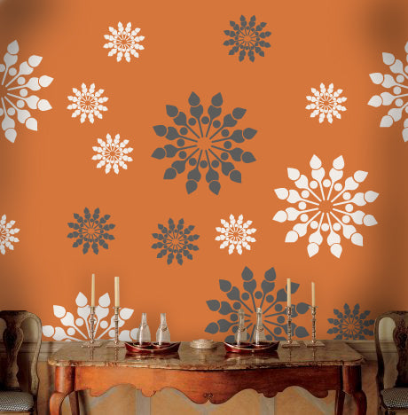 Flower decoration for wall painting  ideas, FS-14