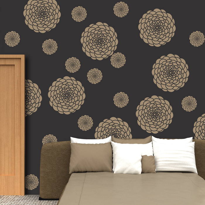 Flower pattern for stencilling & decorative painting,  FS-18 - Decorze