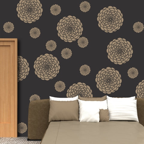 Flower pattern for stencilling & decorative painting,  FS-18