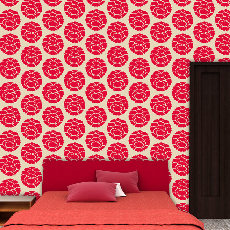 flower pattern design for wall