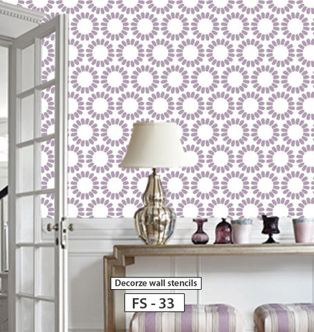 Easy way decorative flower stencil, FS-33