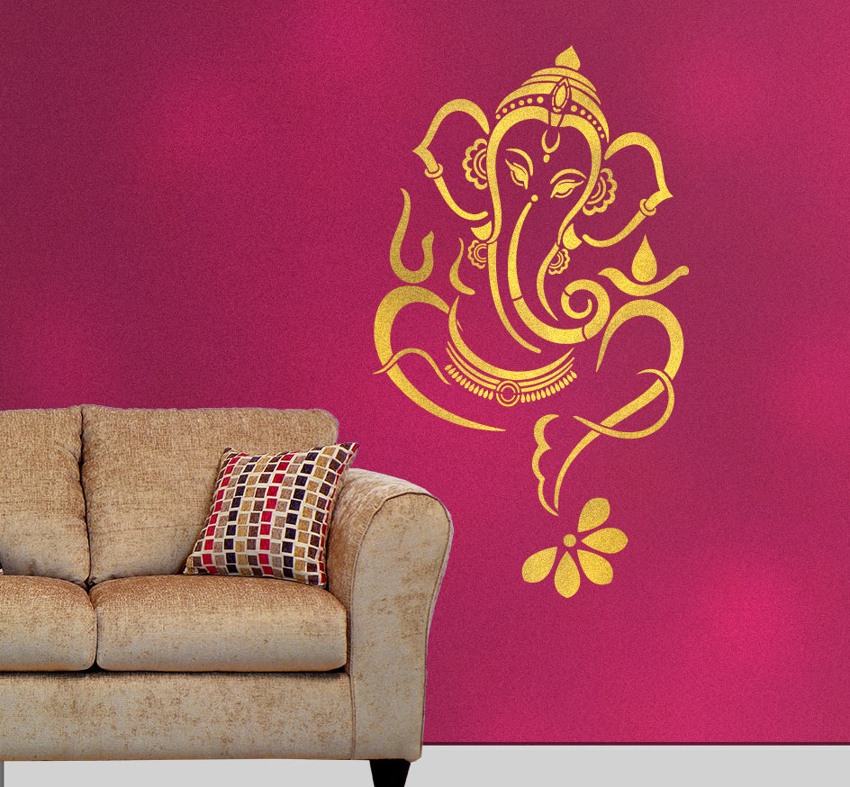 Ganesha Wall Art Stencil | Ganesha Wall painting | Vinayaka Wall painting | Ganesha Wall Painting Designs - G-05