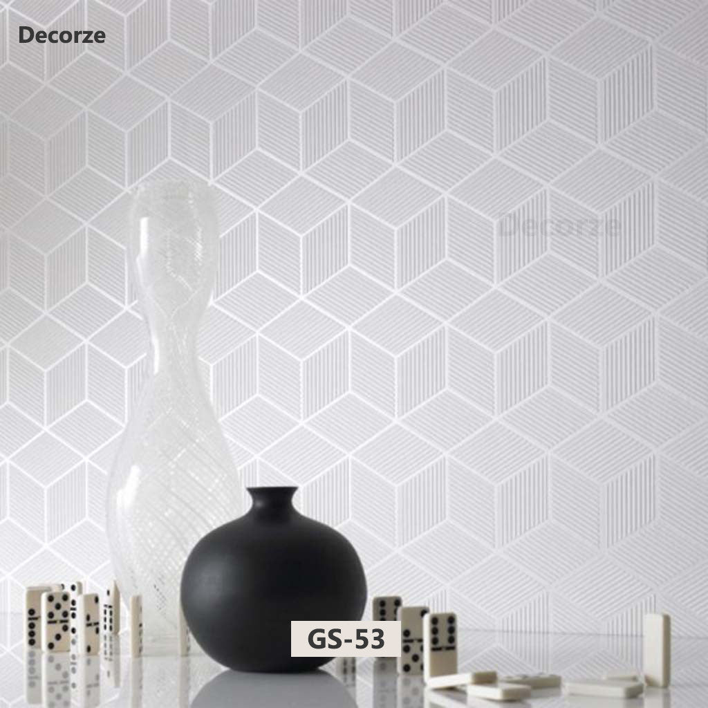 Reusable large geometric wall stencil, GS-53