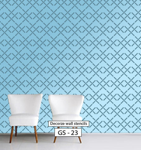 Wall painting stencil design for wall, Geometric stencil, GS-23