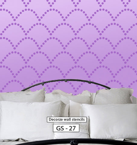 Diy wall decorative stencil for wall reusable stencil pattern, Geometric stencil, GS-27