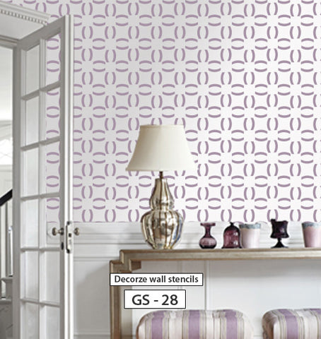 Geometric wall stencil for wall, GS-28