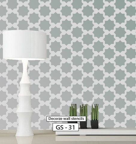 Beautiful reusable geometric stencil pattern, GS-31