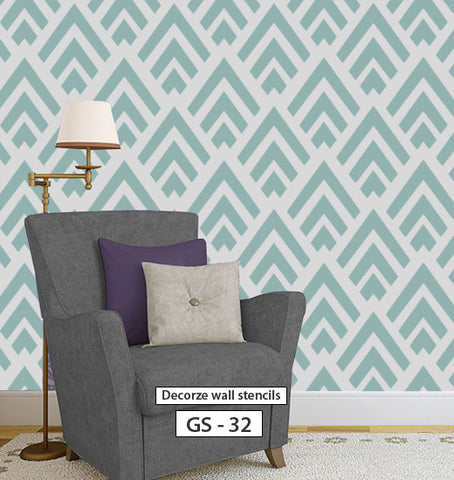 Diy wall decorative stencil for wall reusable stencil pattern, GS-32