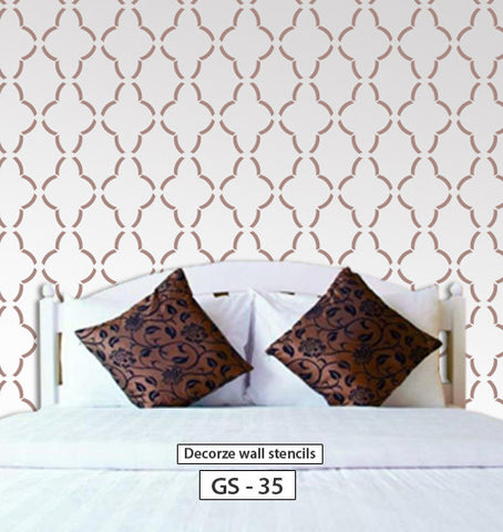Large scale geometric wall stencil for wall, GS-35