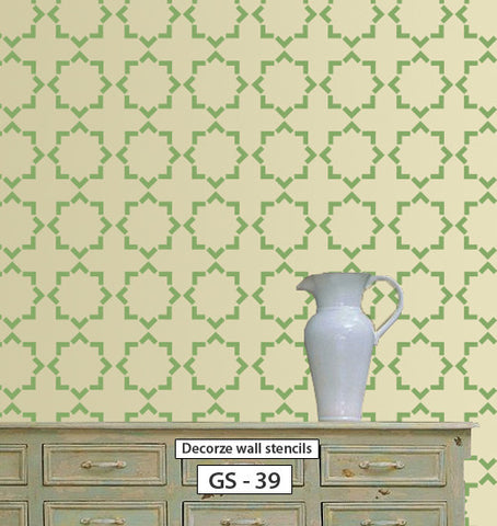 Wall Stencil Patterns. Fabulous Simple Stenciling And Wall Painting ...