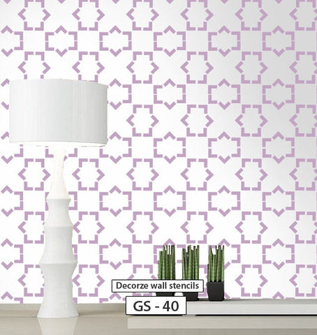 Reusable geometric stencil for wall, GS-40