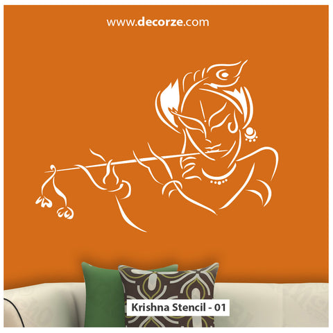 Bhagwan Sri Krishna Reusable Stencil Design
