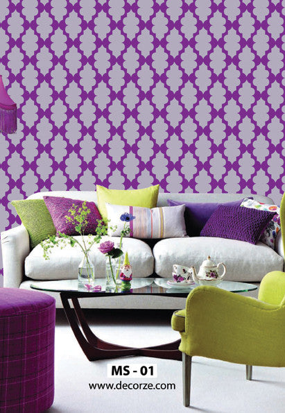 Long time staying design and ideas with Moroccan stencils, MS-01 - Decorze